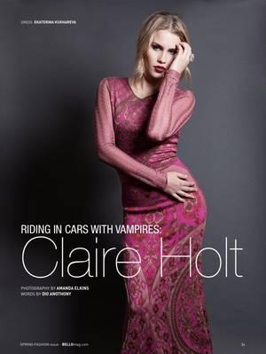 Claire Holt pour Bello Magazine