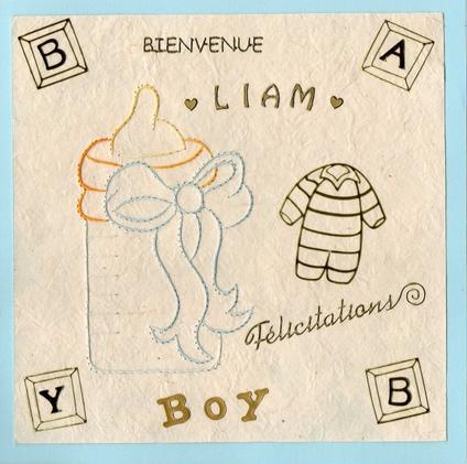 590 # carte naissance brodée