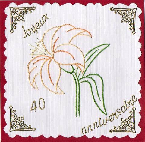 599 # carte d'anniversaire 40 ans