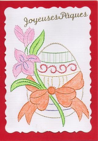 629 # 1er carte pour Pâques