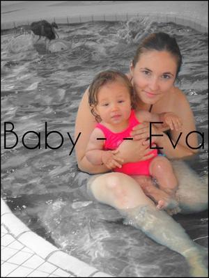 La 1er sortie piscine de Eva