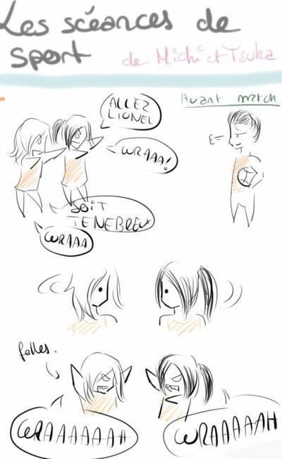Les cours de sport de Michi et Tsuka