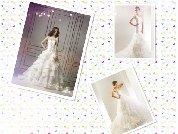 If you choose the right wedding dress,you can also be pretty,even though don't lose weight.