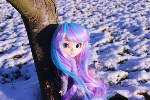 Une petite licorne des neiges...