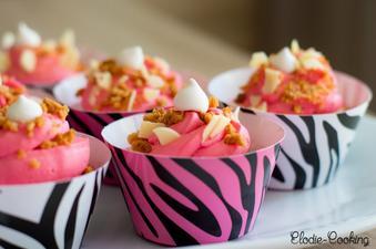 Cupcakes vanille, framboise/citron