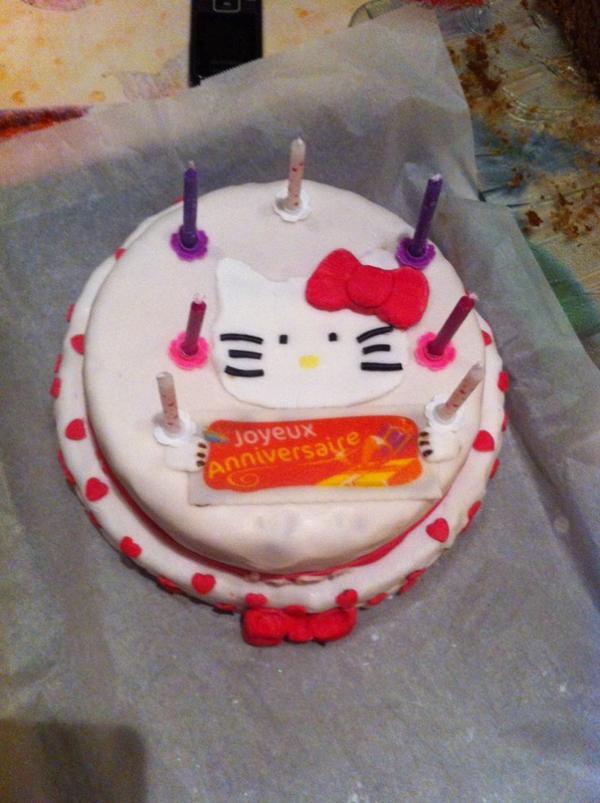 Gâteau d anniversaire pour notre princesse 7 ans aujourd'hui