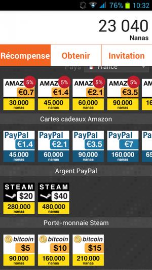 Carte cadeaux et réduction chez Amazon,ITunes, Google play et tant d'autres