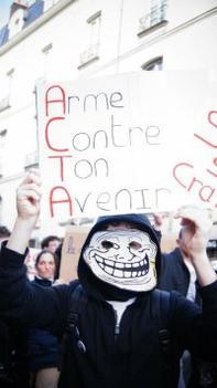 Hier Manifestations contre ACTA