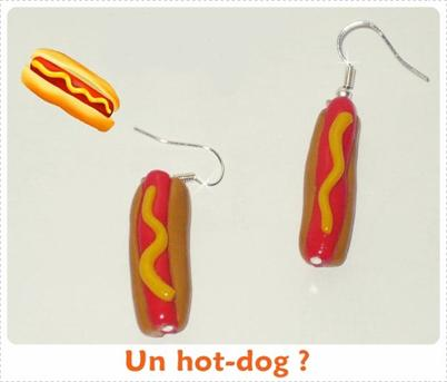 » Article 2 : Boucles d'Oreilles Hot-Dog.