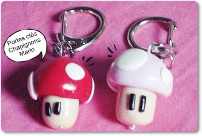 » Article 4 : Portes clés Champignons Mario.