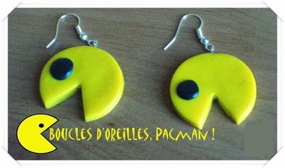 » Article 5 : Boucles d'Oreilles Pacman !