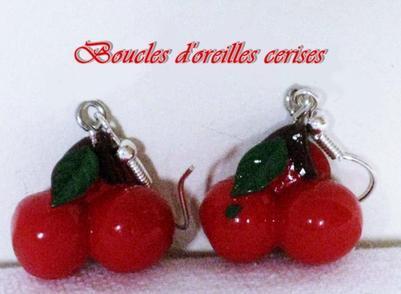 » Article 6 : Boucles d'Oreilles Cerises.