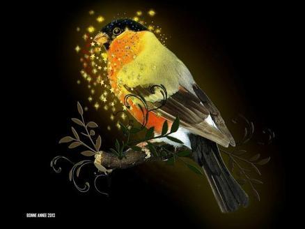 Je vous souhaite mes meilleurs voeux pour cette nouvelle année.Qu'elle vous rapporte santé , amour et prospérité .