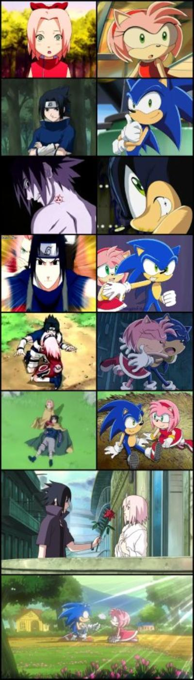 Kyaaaaaa !!! Amy et Sakura ont la même tenue !!! xD