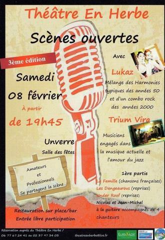 Scènes ouvertes le 8 février 2014 à Unverre !