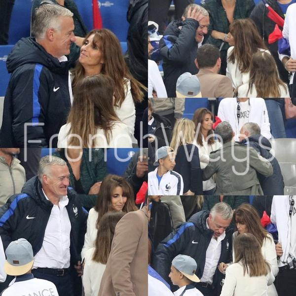 Claude & Didier Deschamps après France - Islande