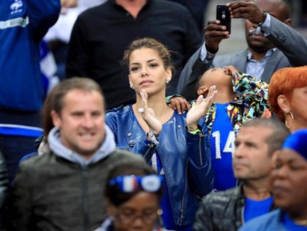 Isabelle & Blaise Matuidi au Stade de France après France - Islande