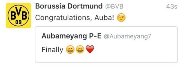 Félicitation à Alysha & Pierre-Emerick Aubameyang!