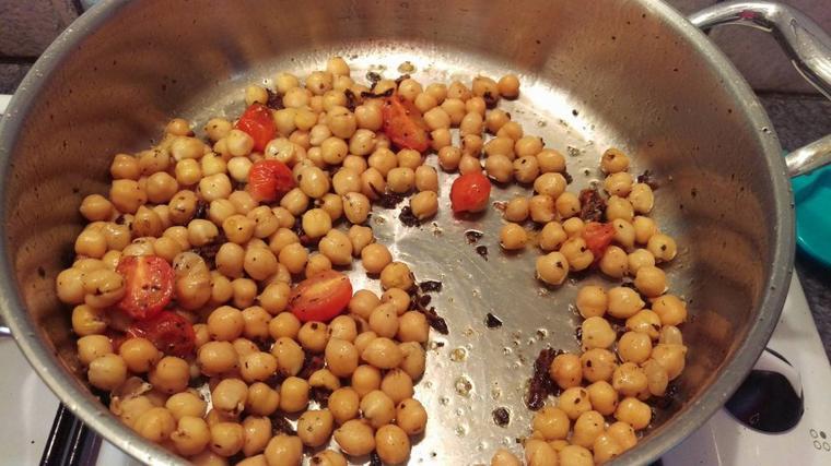 """Pâtes à la sauce """"bolognaise"""" végétarienne."""