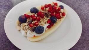 Petit déjeuner - façon banana split.