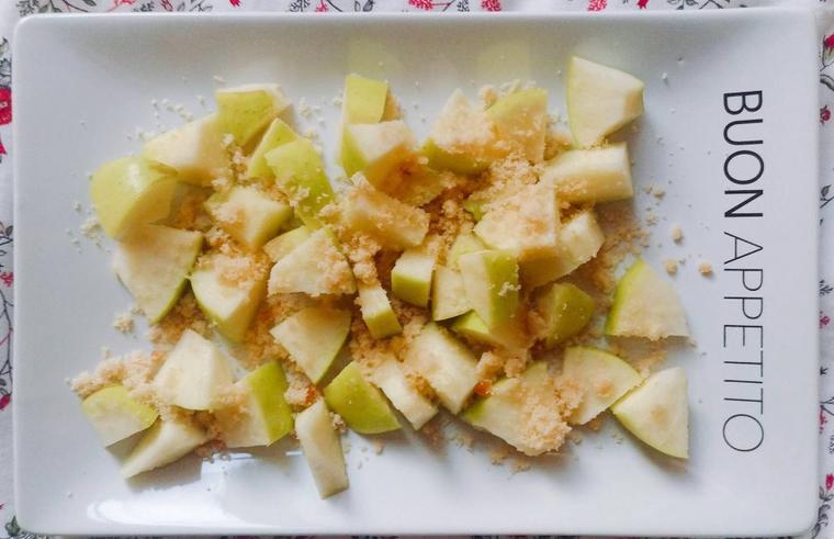Idée de coupe-faim : pomme à la cassonade.