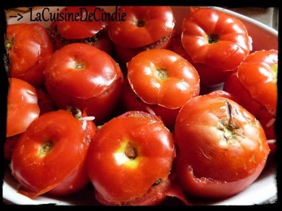 Tomate farcie au riz