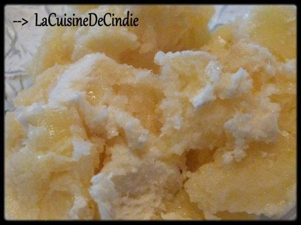 Glace à la vanille sans sorbetière