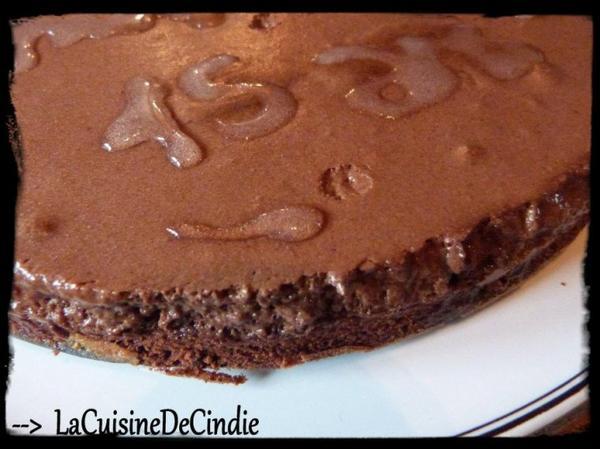 Gâteau fondant et mousseux au Chocolat