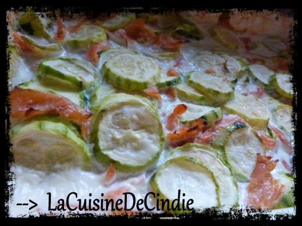 Courgette Saumon à la crème et Au four