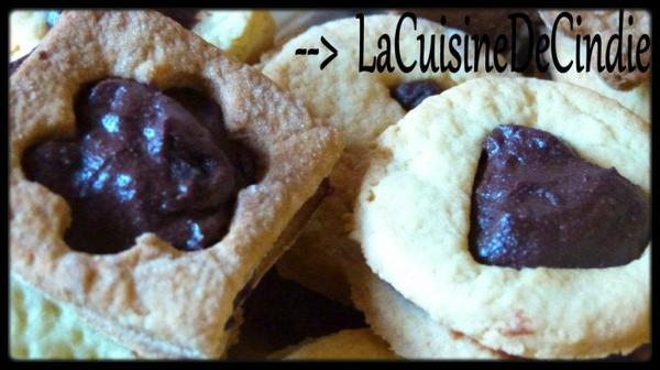 Biscuits fourrés au chocolat (type mini BN)