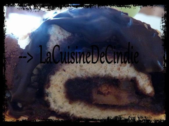 Gâteau roulé Poire Chocolat