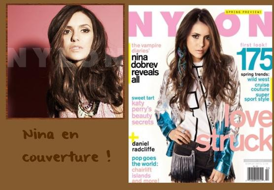 Nina pose pour le magazine Nylon !