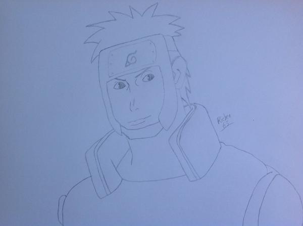 Dessin de Yamato (personnage de la série Naruto) environ 1h.