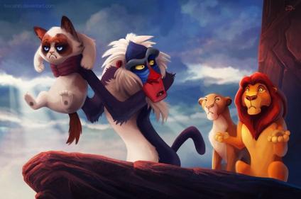 Fanart Disney #1 : Grumpy Cat par TsaoChin !
