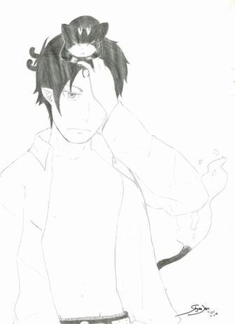 Un petit fanart de Rin et Kuro