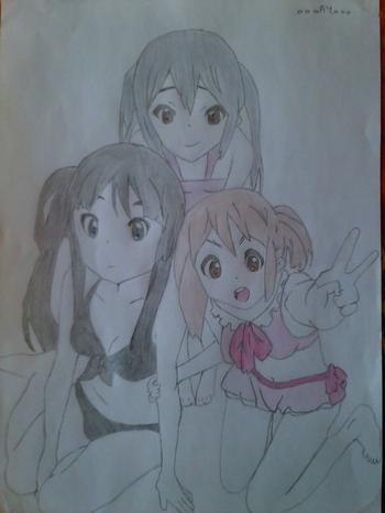 Dessin n°4 - Groupe K-ON