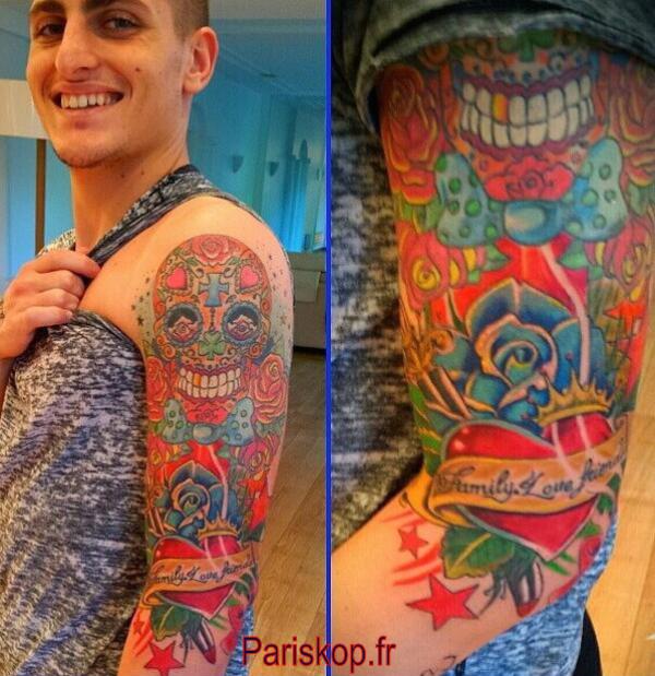 Nouveaux Tatouages (Marco Verratti)