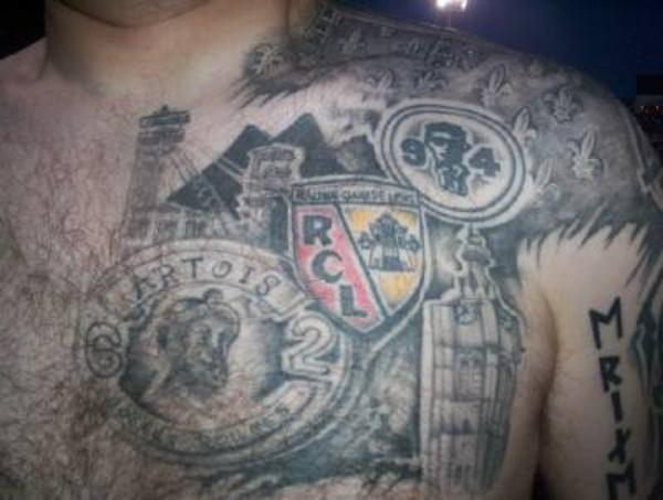 Tatouages de Supporters : RC Lens