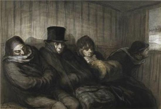 Hommage à Honoré Daumier  peintre, caricaturiste disparu  le 10 février 1879     (1808-1879)