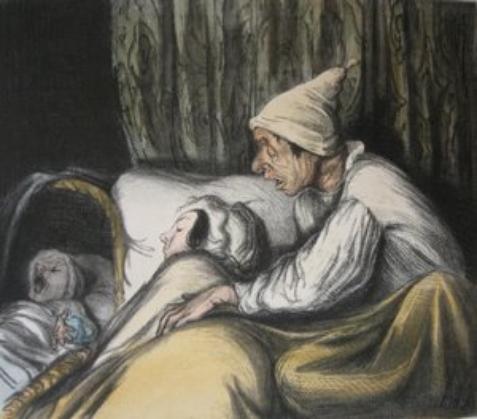 Les 5 sens  par Honoré Daumier  (1808-1879)