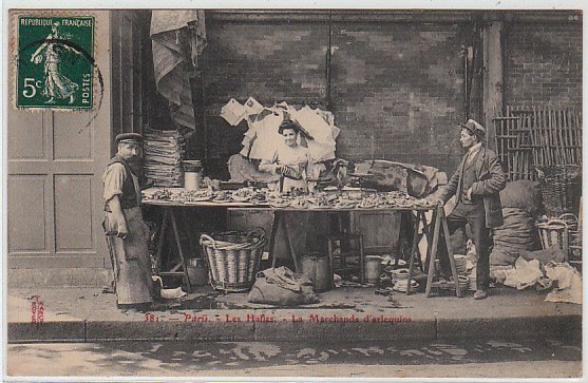 Vieux petits métiers des Halles  :  Les marchandes d'arlequins