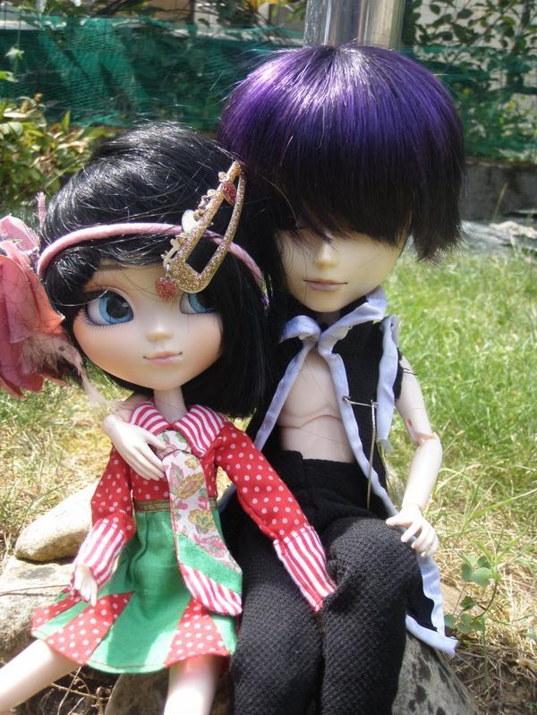 ☜ღ☞ Petite photo en duo dans le jardin ☜ღ☞
