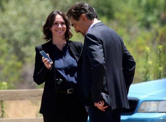 Photos Esprits Criminels saison 10 :  Jennifer Love Hewitt en plein tournage