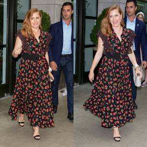 1 Août 2018 | Amy et Darren arrivant à The Greenwich Hotel toujours à New York City