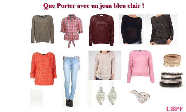 Comment Porter Un Jean Bleu Clair !