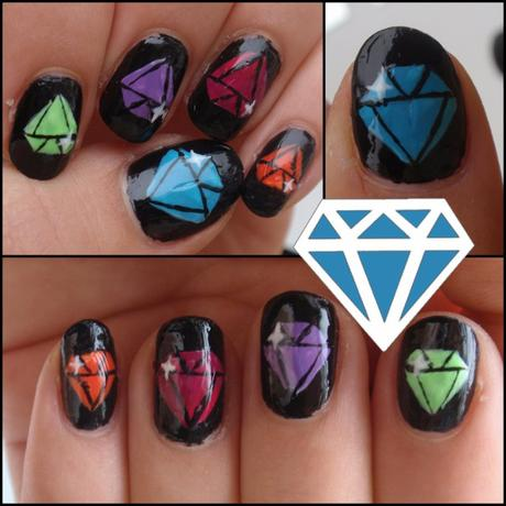 "[Vernis & Nail Art] Tuto ""diamants"""