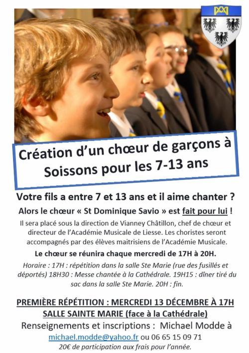 """Création du choeur des """"Petits chanteurs de Soissons"""" par l'Académie Musicale de Liesse"""