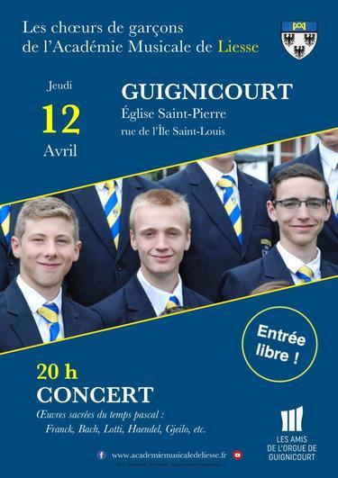 Prochains concerts de l'Académie musicale de Liesse