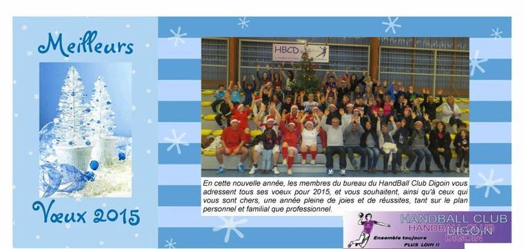 Le HandBall Club Digoin vous souhaite une bonne année 2015 !