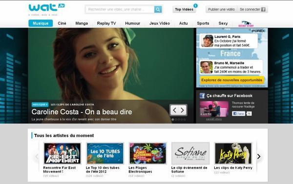 Le clip de Caroline est sur Wat.tv